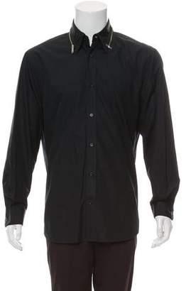 Alexander McQueen Zipper Button-Up Shirt