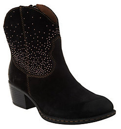 As Is B.O.C. Suede Western Ankle Boots - Ambrosia $29 thestylecure.com