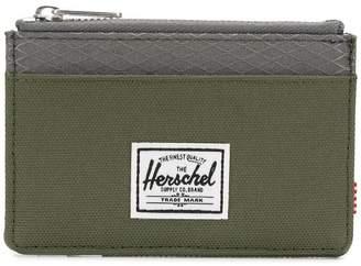 Herschel two-tone zipped wallet