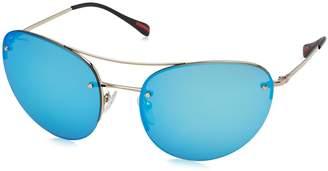 Prada Sport Sunglasses 51RS ZVN5M2 Pale Blue Mirror