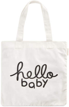 First Impressions Hello Baby Cotton Tote Bag, Created for Macy's