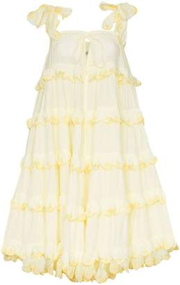 Innika Choo Iva Biigdres Scallop Frill Midi Dress