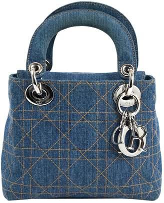 Christian Dior Vintage Lady Blue Denim - Jeans Handbag 58ebfd5cb71bd