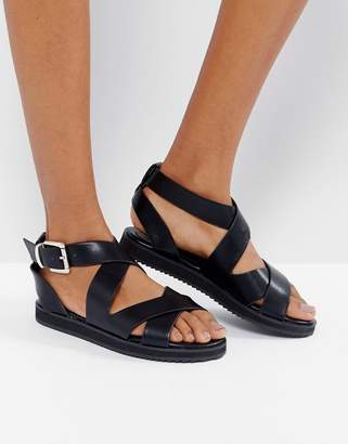 f8482a2593 London Rebel Crossover Chunky Flat Sandal