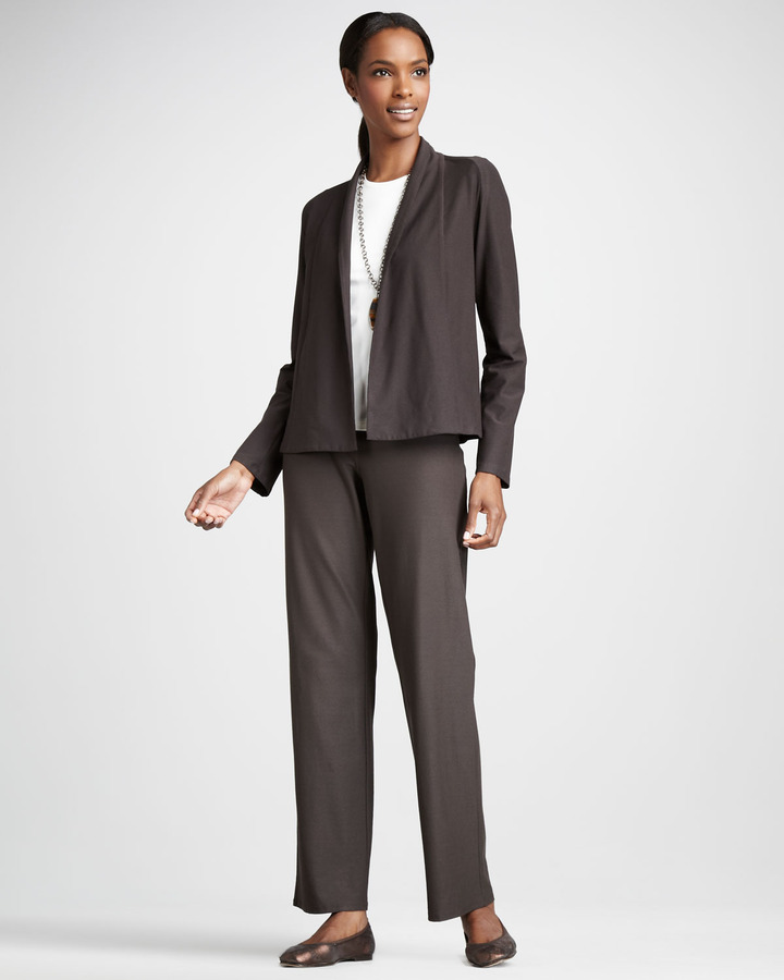 Eileen Fisher Short Stretch-Crepe Jacket, Petite