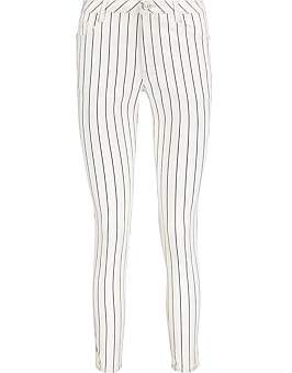 R & E RE: Striped Skinny Jeans