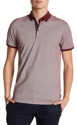 Ted Baker Exeta Short Sleeve Allover Geo Print Polo
