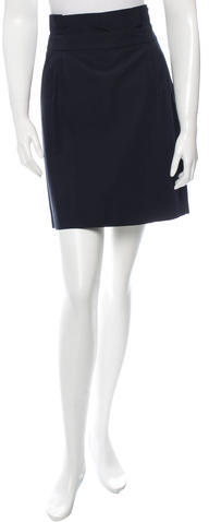 Kate SpadeKate Spade New York Pleated-Accented Mini Skirt