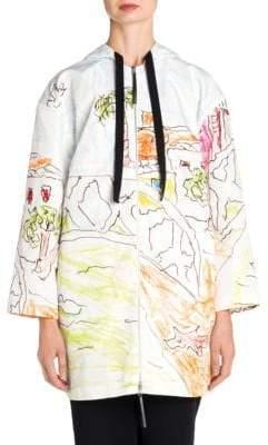 Marni Printed Hooded Jacket