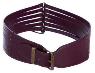 Alaà ̄a Leather Hip Belt Purple Alaà ̄a Leather Hip Belt
