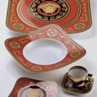Rosenthal Meets Versace Medusa Red Cereal Bowl