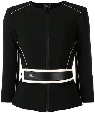 Elisabetta Franchi fitted jacket with belt