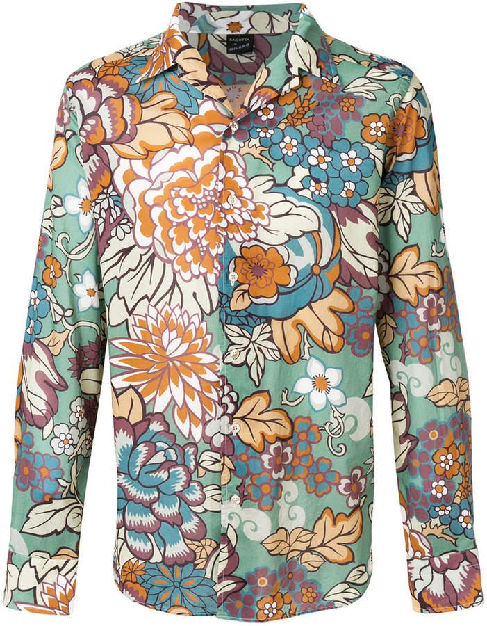 Bagutta floral print shirt