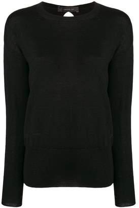 Federica Tosi cutout back long sleeve sweater