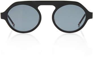 d3eb713da4 Thom Browne Matte Acetate Round Sunglasses