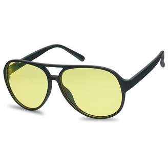 9c6a7713d7 Sunglass Stop Shop SunglassUP - 2 Pairs of Black Frame Blue Blocking  Plastic Bomber Aviator Sunglasses