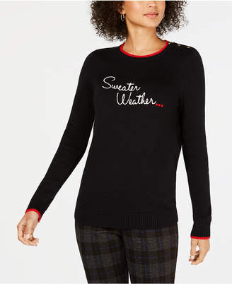 Charter Club Petite Printed Sweater