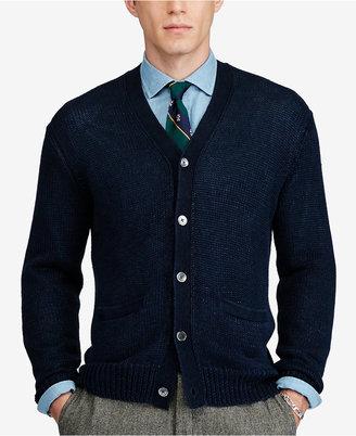 Polo Ralph Lauren Men's V-Neck Cardigan $265 thestylecure.com