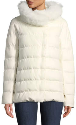 Herno Fur-Collar Down-Fill Midi Coat