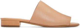 Mansur Gavriel Tan Flat Mules $395 thestylecure.com
