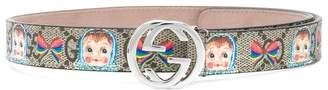 Gucci Kids doll printed logo belt
