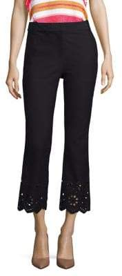 Derek Lam 10 Crosby Cropped Eyelet Pants