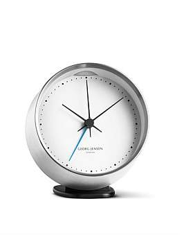 Georg Jensen Hk Clock W. Alarm, Steel-White, 10 Cm