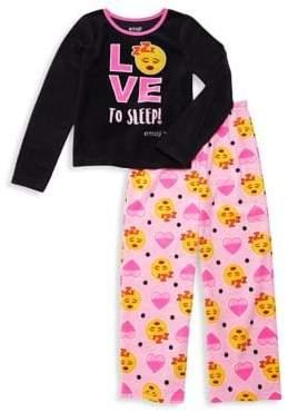 AME Sleepwear Little Girl's & Girl's Two-Piece Love To Sleep Pajama Set