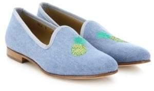 Del Toro Pineapple Denim Loafers