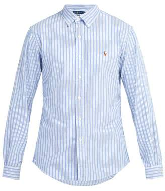Polo Ralph Lauren Slim Fit Striped Cotton Oxford Shirt - Mens - Blue Stripe