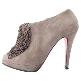 f52a704f4982 Christian Louboutin Grey Boots For Women - ShopStyle UK