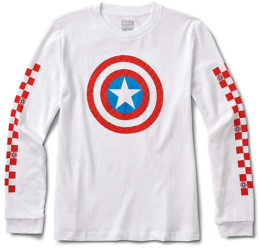Vans x Marvel Captain Shields Long Sleeve Boyfriend Tee