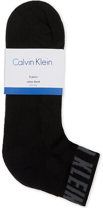 Calvin Klein Combed cotton ankle socks set of three
