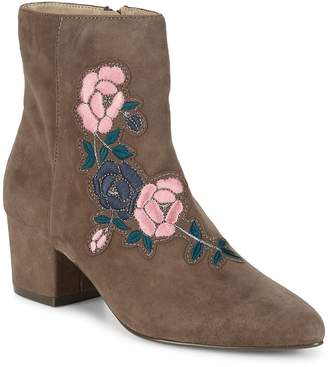 Steven by Steve Madden Women's Brooker Suede Embroidered Ankle Boots