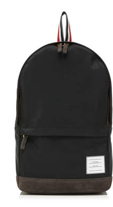 Thom Browne Leather-Trimmed Canvas Backpack