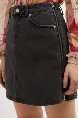 7a2754c1e French Connection Pepper Denim Zip Side Mini Skirt