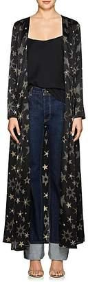 Leone WE ARE Women's Star-Print Silk Maxi Cardigan