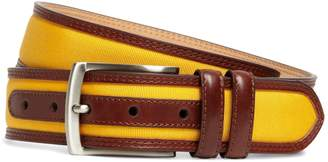 Brooks Brothers Grosgrain and Leather Belt