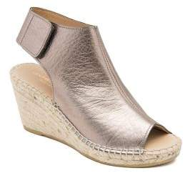Andre Assous Flora Leather and Jute Wedge Espadrilles