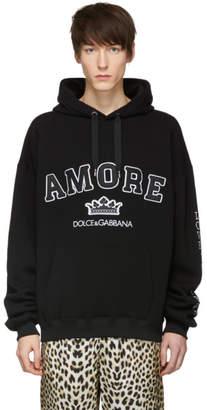 Dolce & Gabbana Black Amore Hoodie