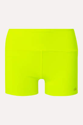 Alo Yoga Airbrush Neon Stretch Shorts - Bright yellow