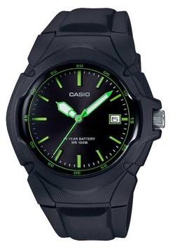 Casio Women's Sport Analog Watch, Black/Green- LX-610-1AVCF