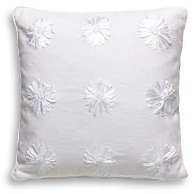 Ribbon Blossom Decorative Pillow, 16 x 16