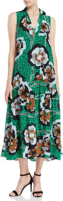 Alysi Printed V-Neck Maxi Dress