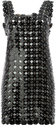 disc embellished shift dress