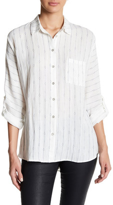 En Creme Lace Up Shirt $44 thestylecure.com