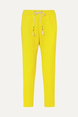 Mira Mikati Neon Scuba-jersey Track Pants - Yellow