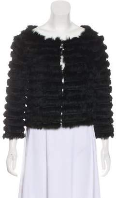 Alice + Olivia Fur Cropped Jacket