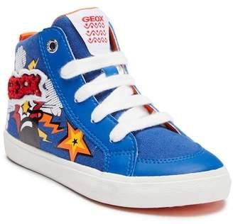 Geox Kiwi Mid Graphic Sneaker (Little Kid & Big Kid)