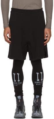 11 By Boris Bidjan Saberi Black Lounge Shorts